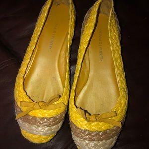 Donald J. Pliner Yellow Flats Size 7